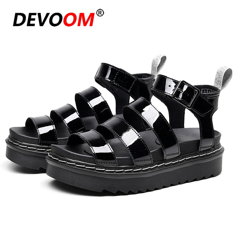 Sandalias gruesas de exterior para chica de playa, zapatillas de Mujer, zapatos de plataforma deportivos de verano para Mujer, Sandalias de piel para Mujer, Sandalias de Mujer 2020