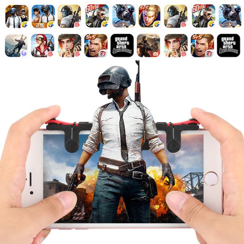 2PCS PUBG Mobile Game Controller Gamepad Trigger Aim Button L1 R1 Shooter Joystick For Different Mod