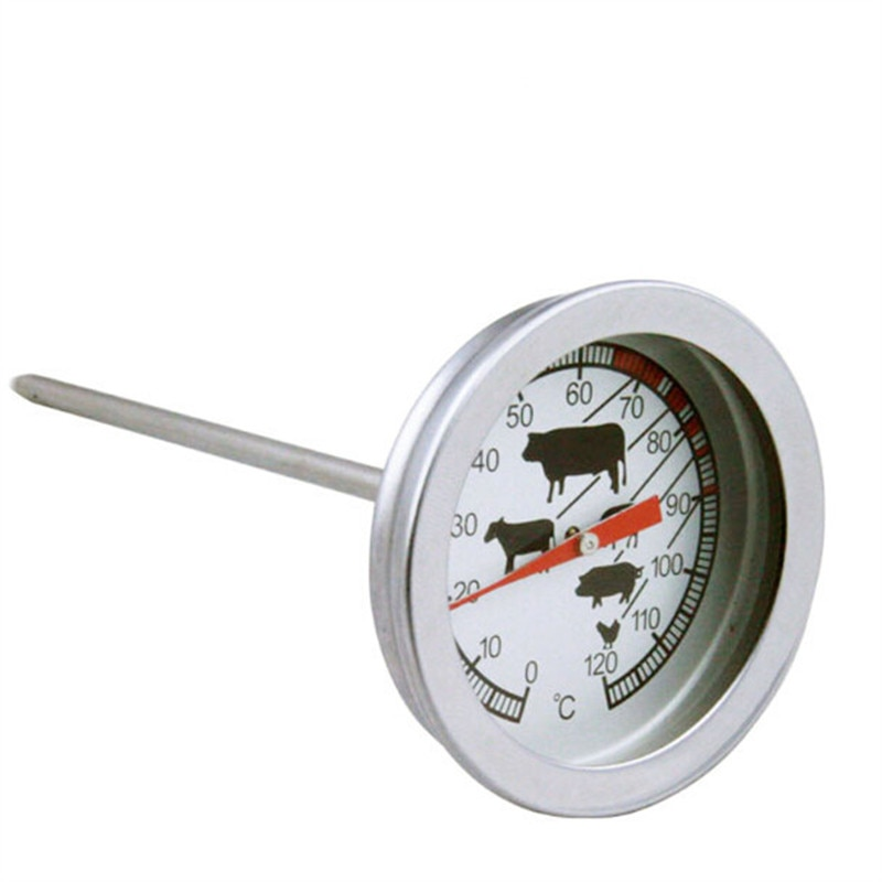 Stainless Steel Pocket Probe Thermometer Temperature Gauge For BBQ Meat Food Kitchen Cooking Thermometer Instant Read Meat Gauge