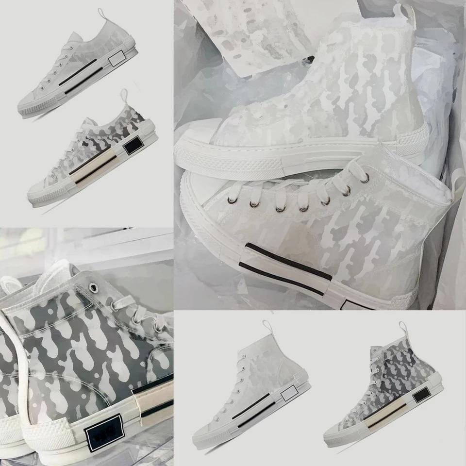 2021 جديد مصمم العلامة التجارية حذاء قماش Wo أحذية رجالي الجولة شريط للرأس B23 عالية كبار الأزواج حذاء كاجوال أحذية رجالي حجم كبير 44