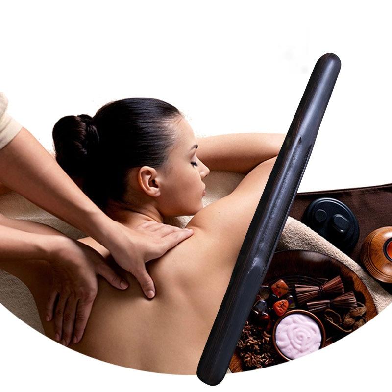 Palos de masaje africanos de ébano, palitos de raspado de salud, esfera Universal para todo el cuerpo, varilla de masaje para el hogar, pies de Tai Chi para salón de belleza