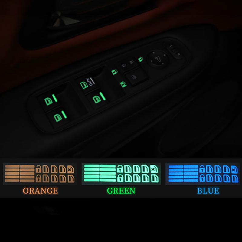 Janela da porta do carro adesivo botão luminoso etiqueta para mazdas 5 6 323 626 rx8 7 mx3 mx5 atenza axela