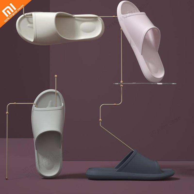 2019 nuevo xiaomi baño pantuflas fondo blando antideslizante polvo ligero zapatillas de pareja 7 color hombres y mujeres sandalias inteligente