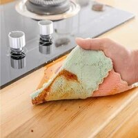 15pcs rag cleaning cloth for washing dishs kitchen supplies kitchen double side absorbent dishcloth special soft kitchen tool