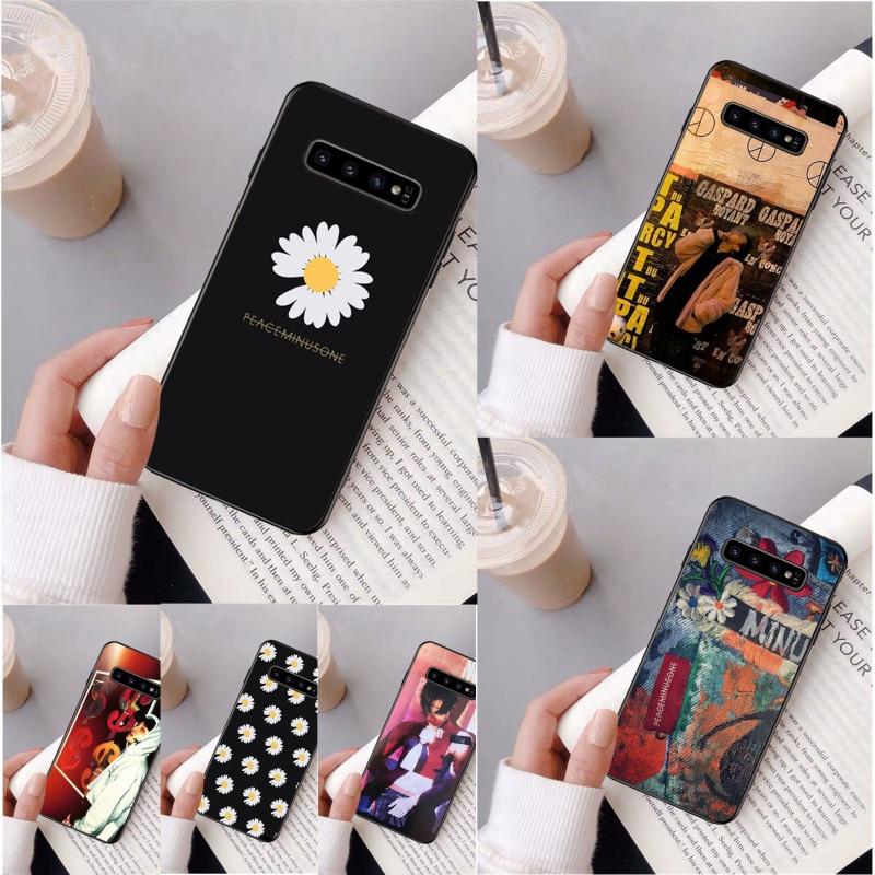 G Dragon peaceminusone negro caja del teléfono celular para Samsung S9 más S5 S6 edge plus S7 borde S8 más S10 E S10 plus