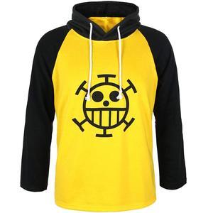 Anime One Piece Trafalgar Law Hoodie Long Sleeve T-Shirt Sweatshirt Hooded Tops Tee Cosplay Costume