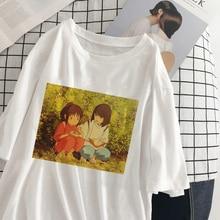 New Harajuku cute Anime Female Tshirt Chihiro Print Short Sleeve Tops & Tees Fashion Casual T Shirt Women Clothing T-shirts