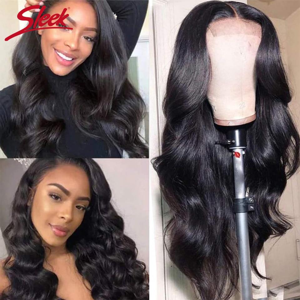 Sleek 4x4 Lace Closure Wigs Human Hair Brazilian Body Wave Lace Wigs for Black Women 30 Inches Long