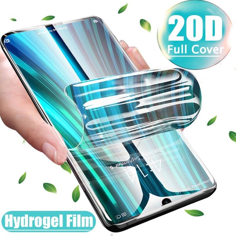 Vidrio no templado para LG K30 2019 Dual SIM K12 Max W30 X6 Q60 pantalla de película de hidrogel Protector cubierta completa curvado blando película frontal