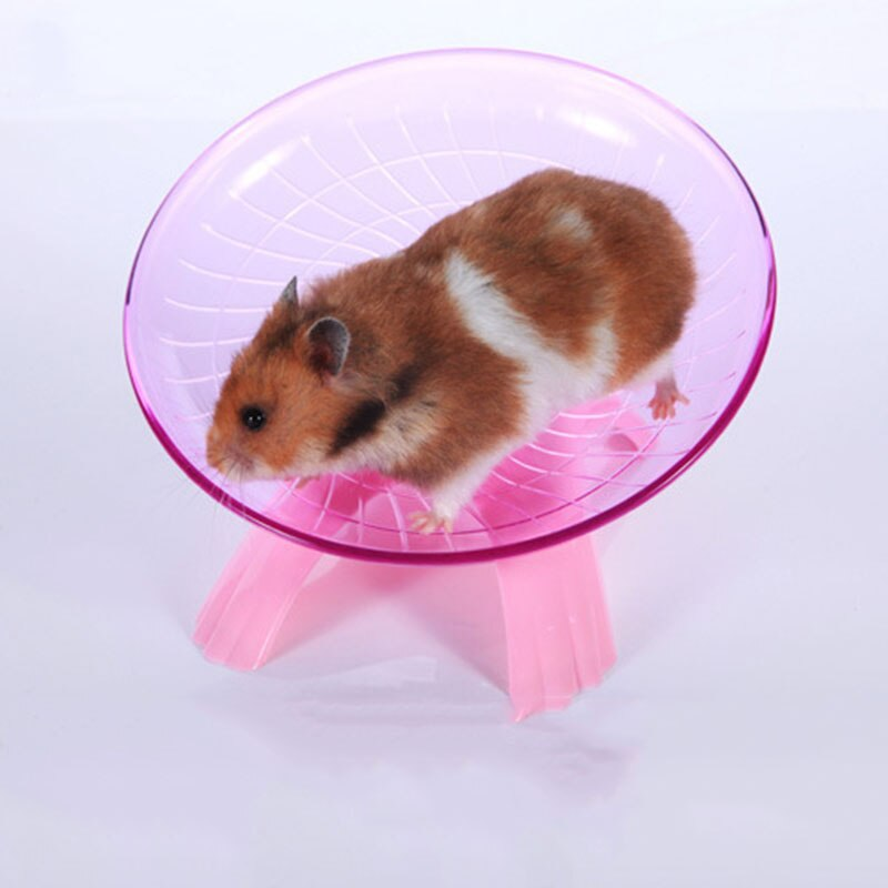 Pet Exercise Wheel Mouse Disc Pet Sport Hamster Plastic Running Jogging wheel Funny Flying Saucer pink Blue Color