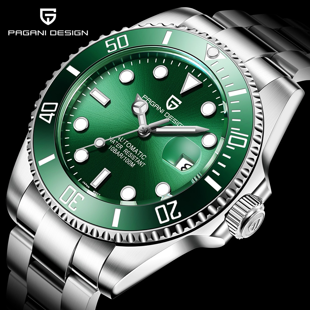 PAGANI DESIGN New Men Mechanical Wristwatch Luxury Ceramic Bezel Automatic Watch Sapphire Glass Watch for Men Relogio Masculino