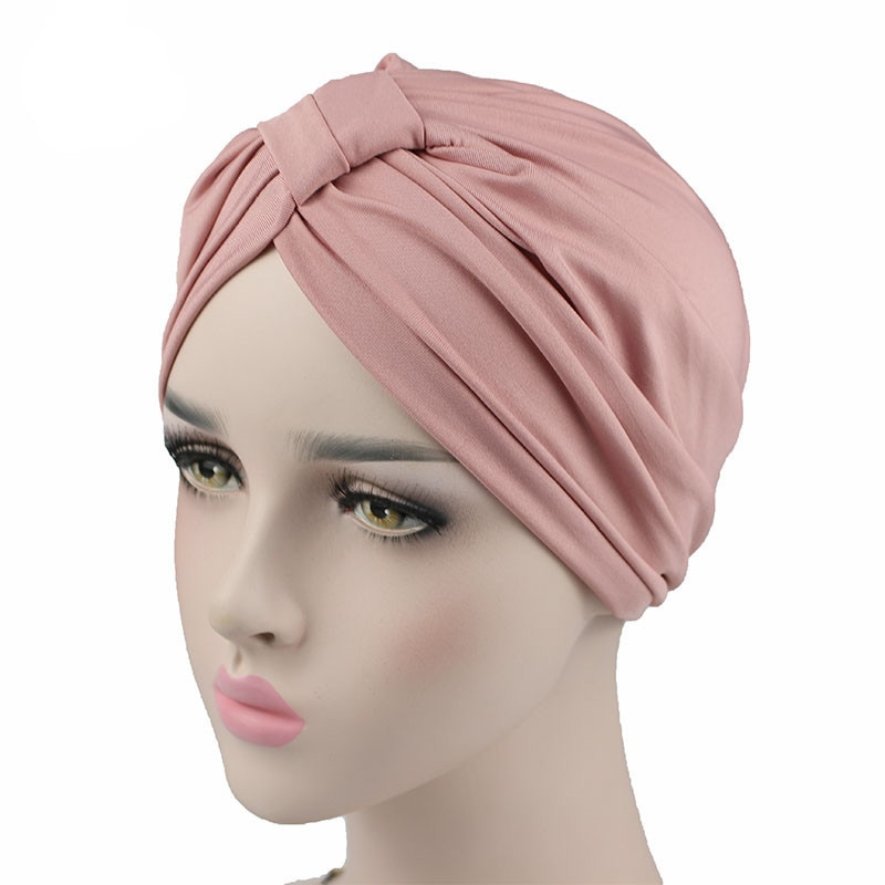 AliExpress - Women Stretchy Modal Cotton Turban Chemo Twist Hijab Head Scarves Ladies Bonnet Cap
