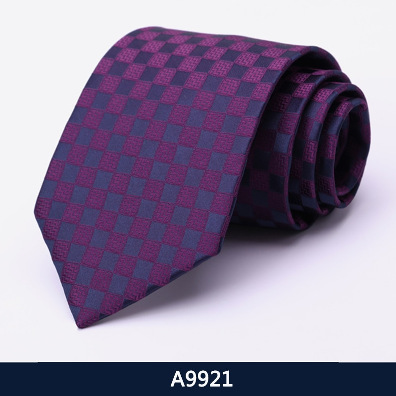 Gentlemen Business Ties High Quality 8CM Wide Tie For Men Fashion Formal Neck Tie Business Suit Work Party Necktie With Gift Box