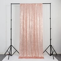 2021 new multicolor optional 60cmx240cm background curtain ins silver rose gold embroidery fabric sequin curtain