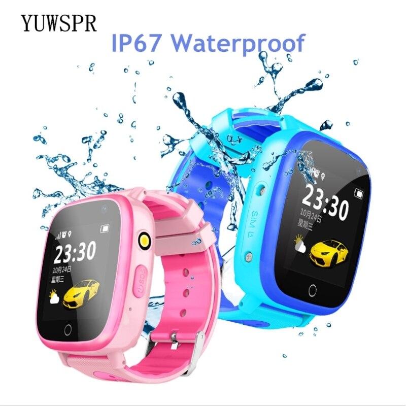 "Relojes de seguimiento con GPS a prueba de agua IP67 1,44 ""Pantalla táctil linterna Cámara SOS GPS ubicación para niños reloj Q11"