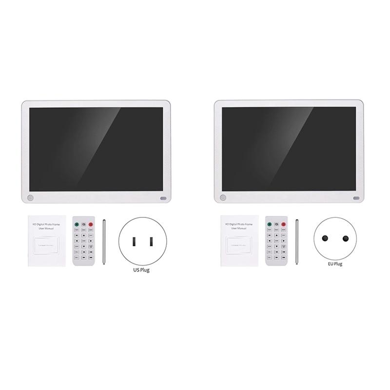 P101 10 Polegada led digital photo frame ips desktop álbum eletrônico 1280x800 hd suporta música/vídeo/foto player/despertador/cloc