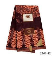 Tissu en cire Ankara 2019   Véritable cire garantie 6yard/lot, tissu africain de haute qualité imprimé pour robe à coudre 2301