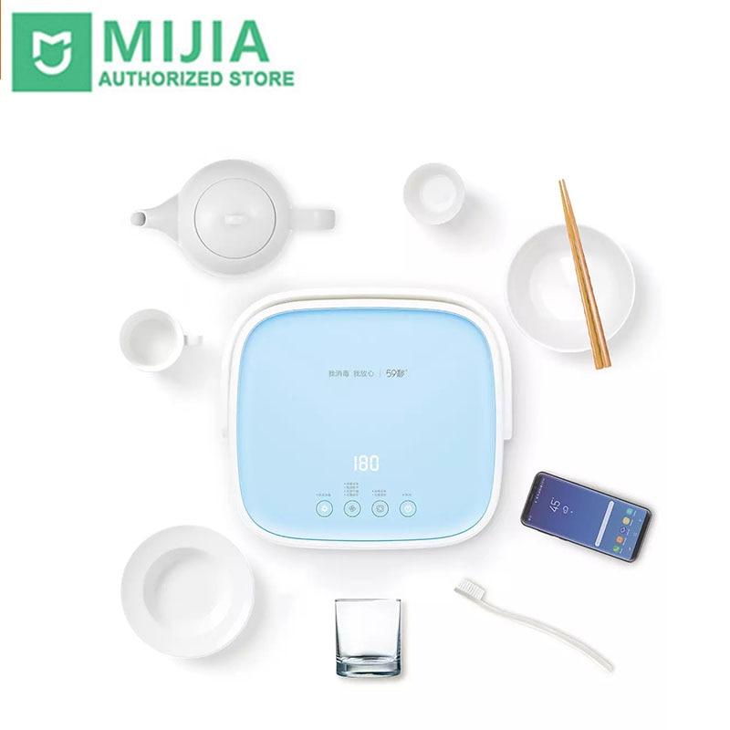 New Xiaomi mi 59s UVC 40 LEDs 27W sterilization box machine 360° Kill bacterial germ 99% Jewelry Phones Cleaner For Mask Baby