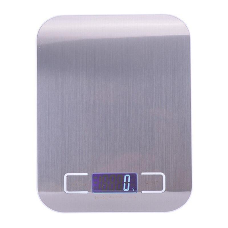 Báscula de cocina Digital USB de acero inoxidable, 10Kg, báscula electrónica de precisión para poste de comida, utensilios de medición para cocinar y hornear