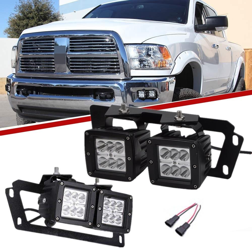 "4x3 ""18W Dually LED de niebla luz de trabajo w/oculto soporte para montaje de parachoque para Dodge 10-15 Ram 2500 3500 09-12 Ram 1500"