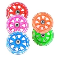 kids led scooter wheels 120mm lights flash razor stunt push abec 7 bearings suitable for childrens bicycles scooters