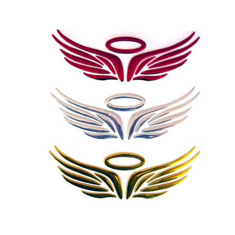 1x 3D Hada Ángel alas pegatina de coche Auto camión Logo emblema insignia 3 colores impermeable rascar cubiertas decoraciones de moda