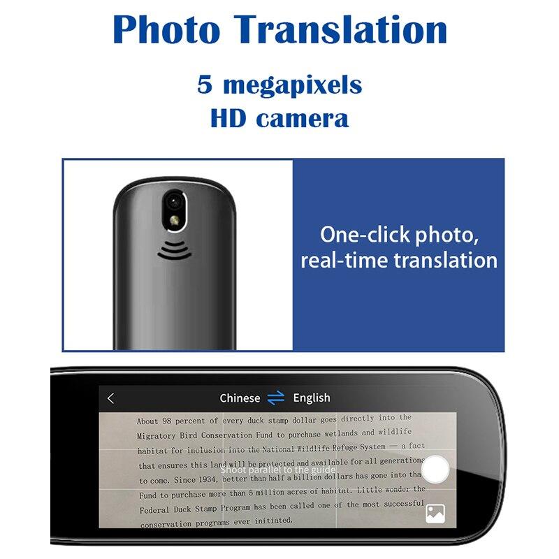 Smart Portable 112 Language Voice Translator 3.5 inch Screen Offline+WIFI Translation Pen Scanning Translator Pen Dictionary pen