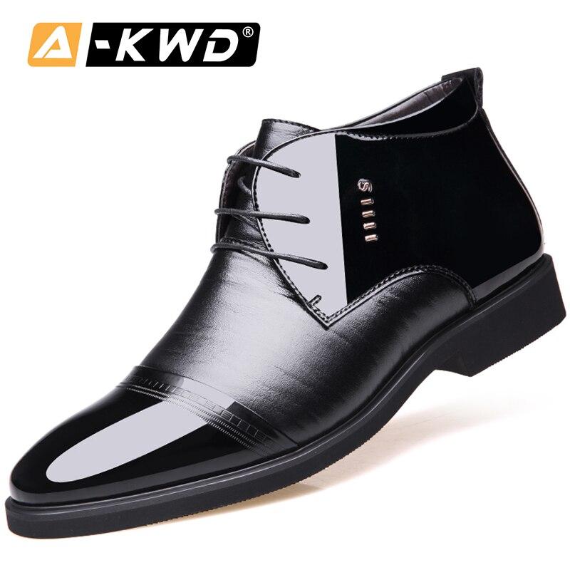 Zapatos de cuero de Pu de negocios a la moda, zapatos de alta calidad para hombre, zapatos casuales de lujo para hombre, zapatos de invierno para hombre