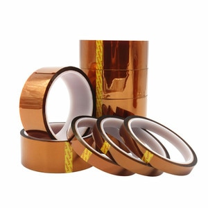 Rolls Heat Resistant Tape for Sublimation Heat Press 3mm 5mm 6mm 8mm 10mm 12mm 15mm 18mm 20mm 30m *33m Polyimide Kapton Tape