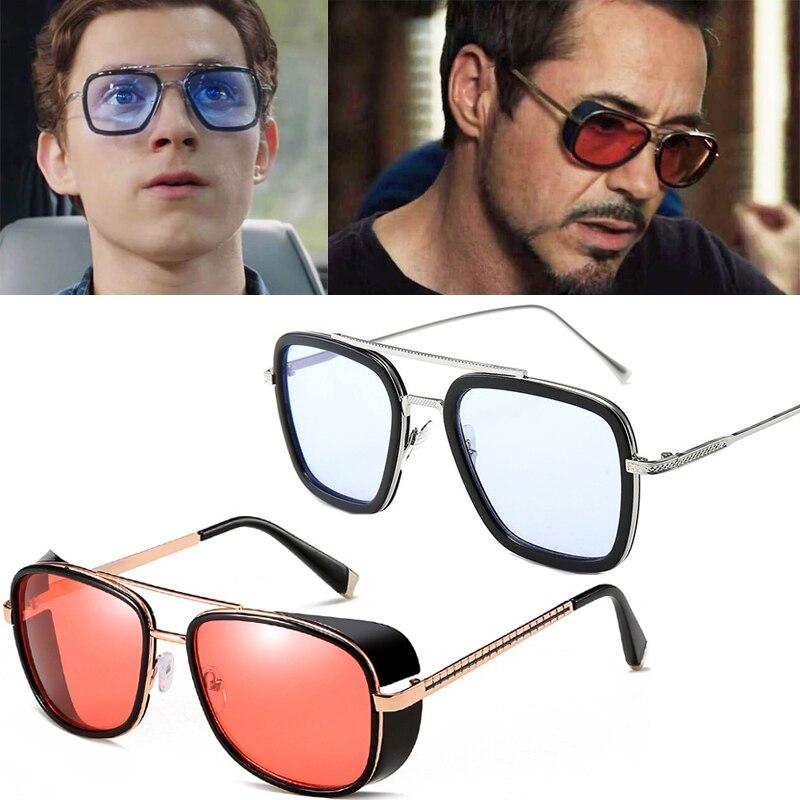 Spider-Man loin de la maison lunettes de soleil Cosplay accessoires rétro Edith lunettes Iron Man TONY Stark lunettes de soleil
