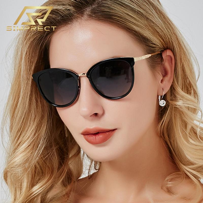 SIMPRECT 2020 модные Негабаритный круглые очки солнцезащитные Люкс брендовые дизайн винтажные UV400 градиент очки женские солнечные