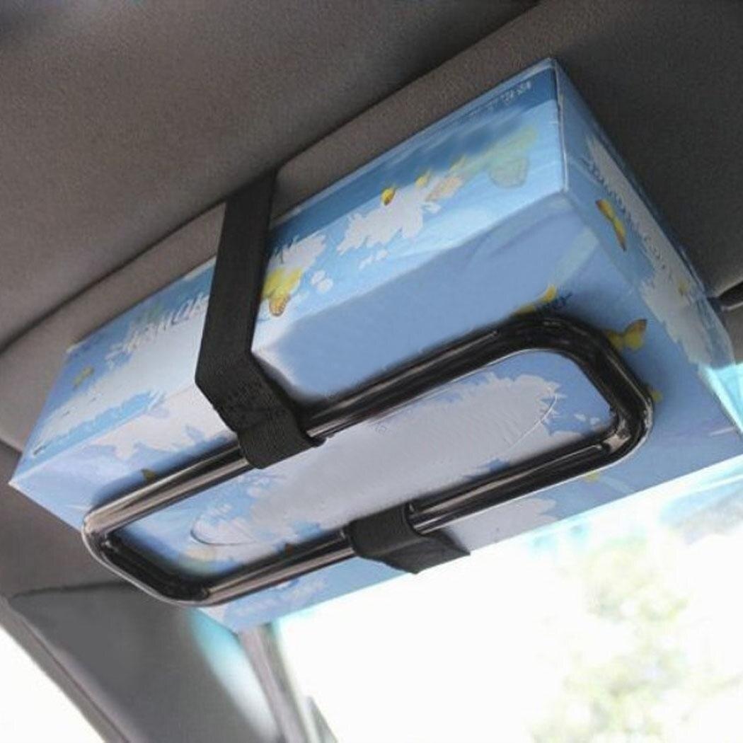 New Portable Car Sun Visor Tissue Paper Box Holder Universal Auto Seat Back Paper Napkin Seat Back Bracket Auto Accessories 4
