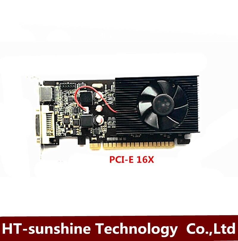 العلامة التجارية الجديدة الأصلي غيفورسي GT210 1G ثنائي شاشة HD فيديو بطاقة نصف هايت يربك سطح المكتب الكمبيوتر PCI-E بطاقة الرسومات 1 قطعة