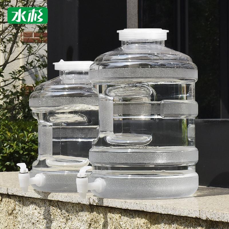 Tragbare klar kunststoff behälter Breiten mund mit Leitungs Lebensmittel Grade wasser flasche für Home outdoor eimer Multifunktions