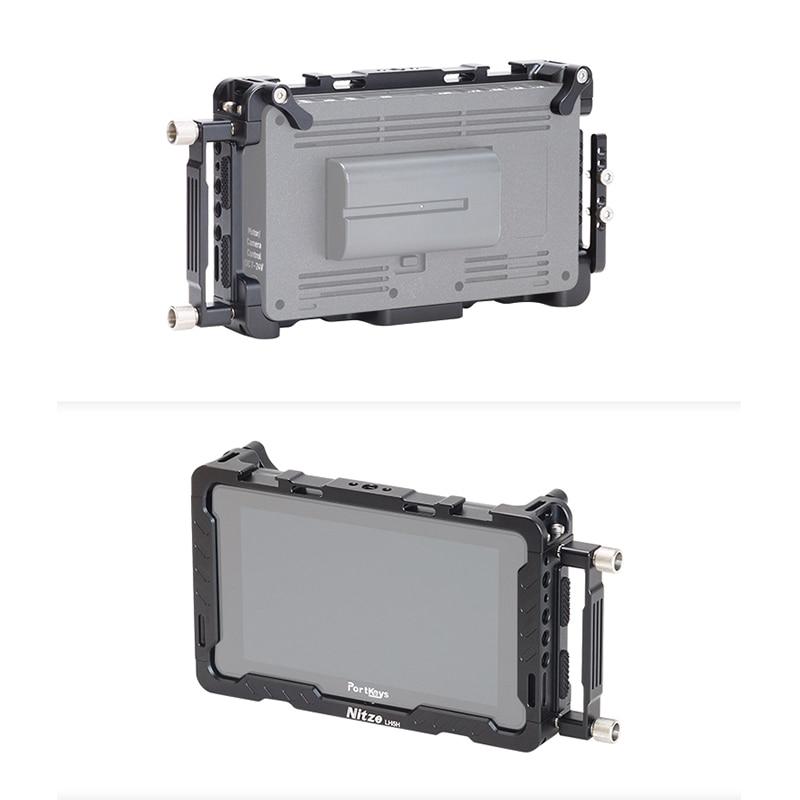 Monitor de Proteção Gaiola para Portkeys Protetora com Tela Câmera Dslr Campo Monitor Gaiola Protetor Solar Capa Braçadeira Lh5h