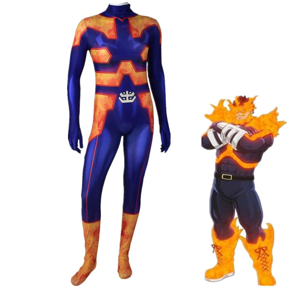 Endeavor Cosplay Kostüm Boku keine Hero Wissenschaft BNHA Zentai Anzug 3D Gedruckt Todoroki Enji Lycra Schlacht Body Mein Hero Wissenschaft
