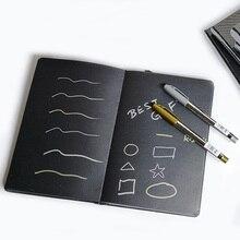 A5/A6 bloc-notes noir blanc pour ordinateur portable, carnet de croquis en papier noir blanc bricolage