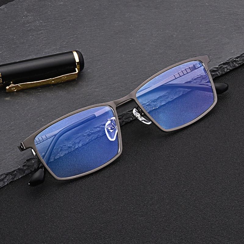 2021 جديد التيتانيوم النظارات البصرية الإطار الرجال مربع قصر النظر وصفة طبية نظارات الذكور المعادن عدم الانزلاق نظارات