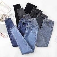 mode hoge broek taille vrouwen dunne jeans 2021 nieuwe slanke hoge taille potlood broek stretch panty casual broek voor vrouwen