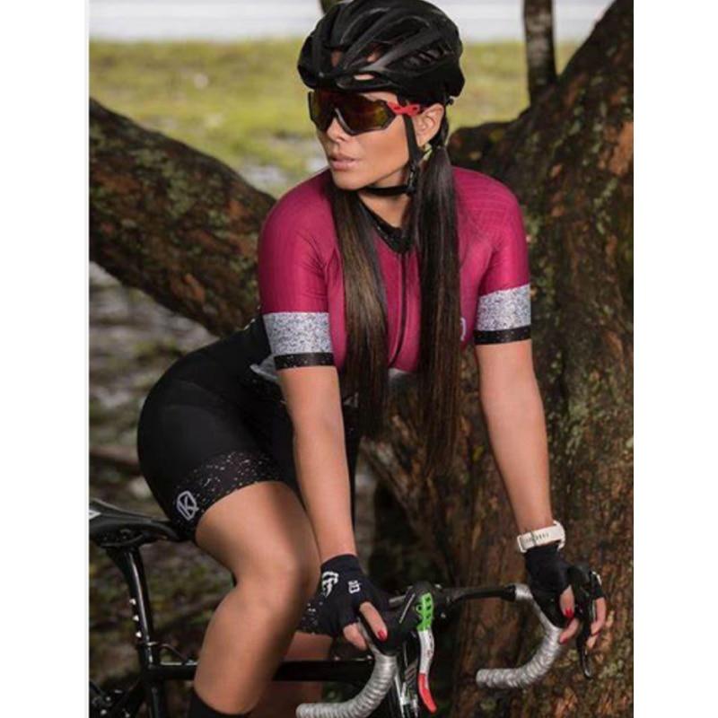 Conjunto de Ropa de triatlón para mujer, camiseta de manga corta para...