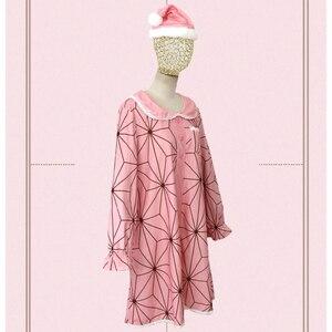 2020 Christmas Costume Kamado Nezuko Cosplay Dress Demon Slayer Nezuko Wig And Shoes Woman's Clothing Accessories Gift