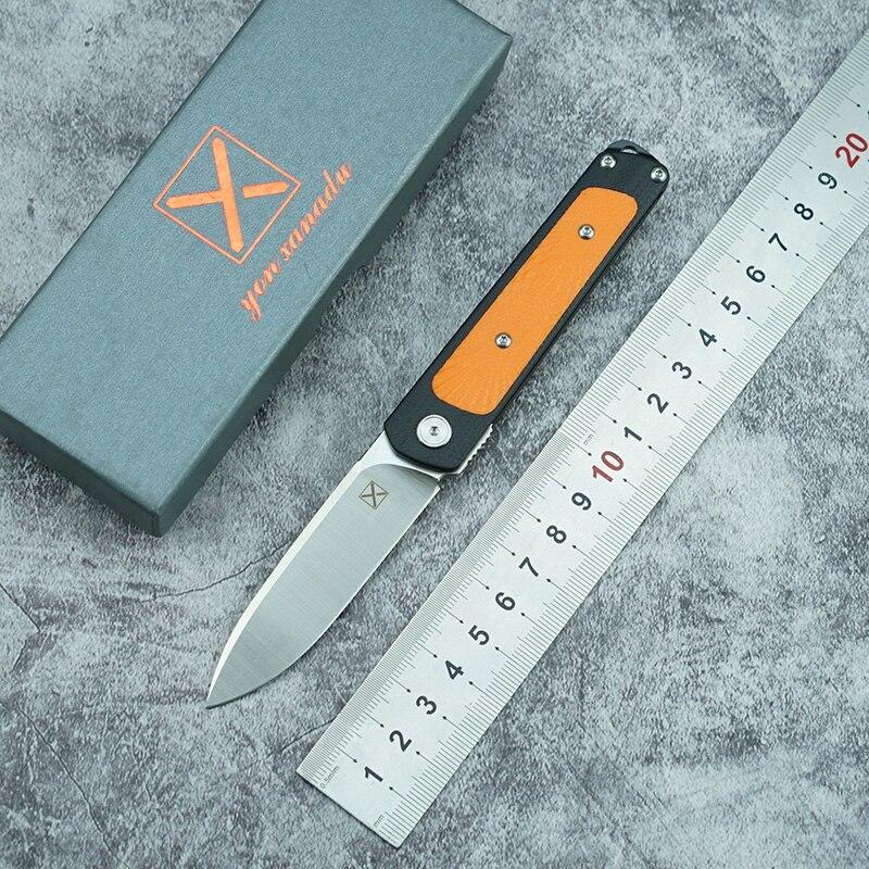 LEMIFSHE YX622 новый складной нож с шарикоподшипником 14c28n лезвие G10 ручка для кемпинга охоты на открытом воздухе карманные Фруктовые Ножи EDC инстр...