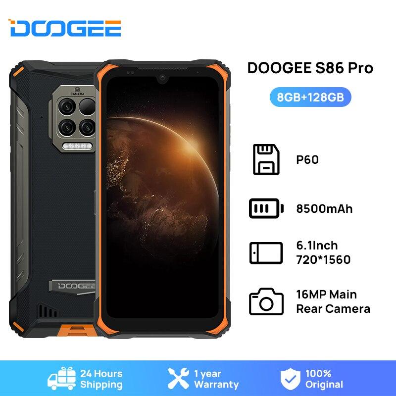 Водонепроницаемый смартфон DOOGEE S86 Pro, 8 + 128 ГБ, Helio P60, 8500 мАч
