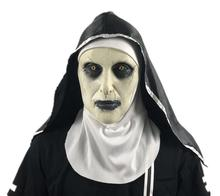 Карнавальная маска монахини, Вечерние Маски на Хэллоуин, страшные латексные маски с повязкой на голову