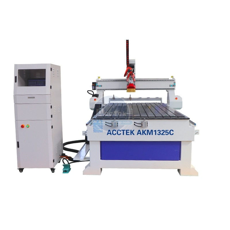 Jinan AccTek Economize Atc 3d Cnc Router Machinery AKM1325C with X Y Gear Rack Transmission