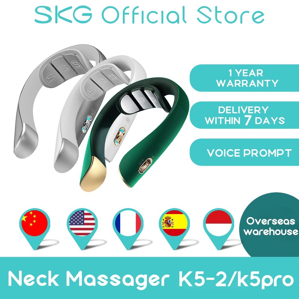 AliExpress - SKG Neck Massager K5-2 CN Electric Pulse Smart Massager For Neck Voice Prompt 4 Electrode Slice Cervical Pain Relief Comfortable