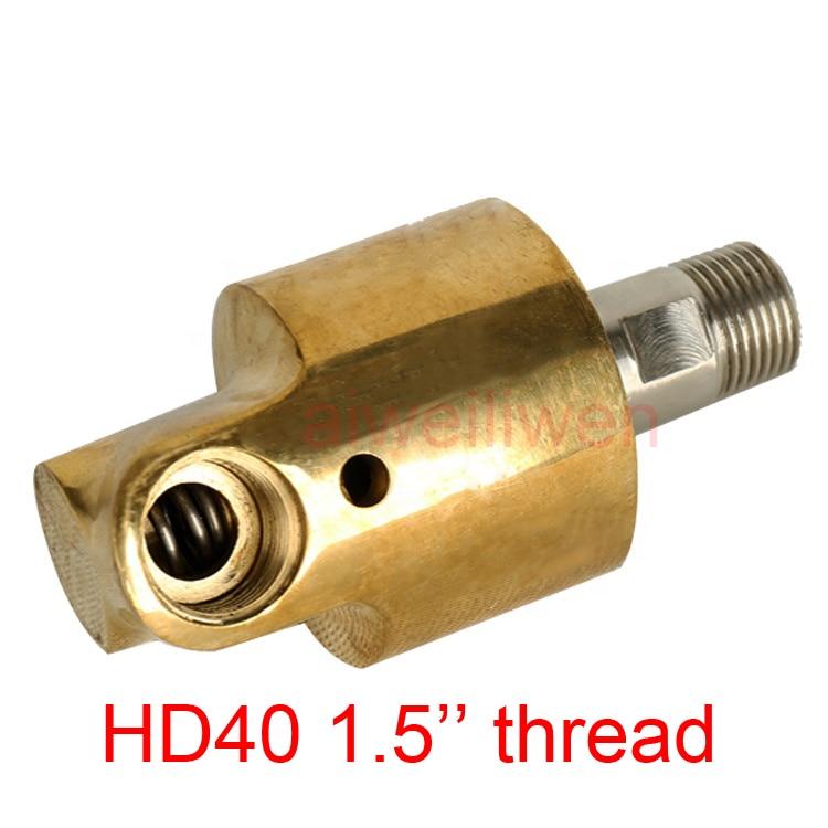 HD40 DN40 1.5 بوصة دوارة مشتركة 360 دوارة مشتركة المياه الهواء النفط دوارة اقتران رذاذ موصل عالمي النحاس دوران الاتحاد