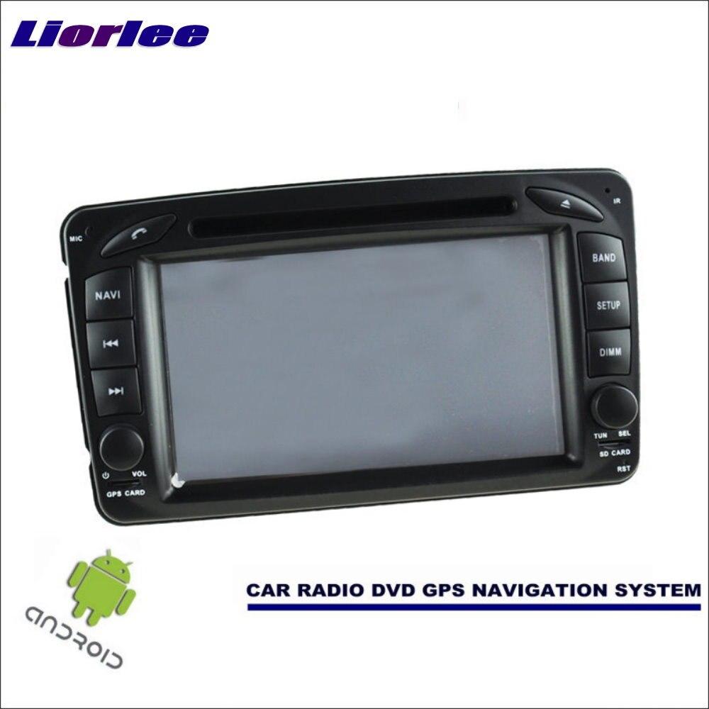 Liorlee para Mercedes Benz Vaneo Viano 2002-2007, reproductor multimedia GPS con Radio, DVD y Radio estéreo para coche con Android