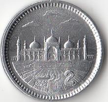 Pakistan 2 Rupee Coins Asia 100% Real Original Coin New