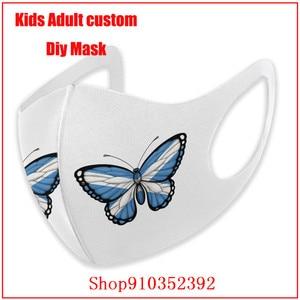 Шотландский Флаг Бабочка DIY маска для лица mondmasker смываемая маска для лица многоразовая не для антивируса хлопковая маска для рта